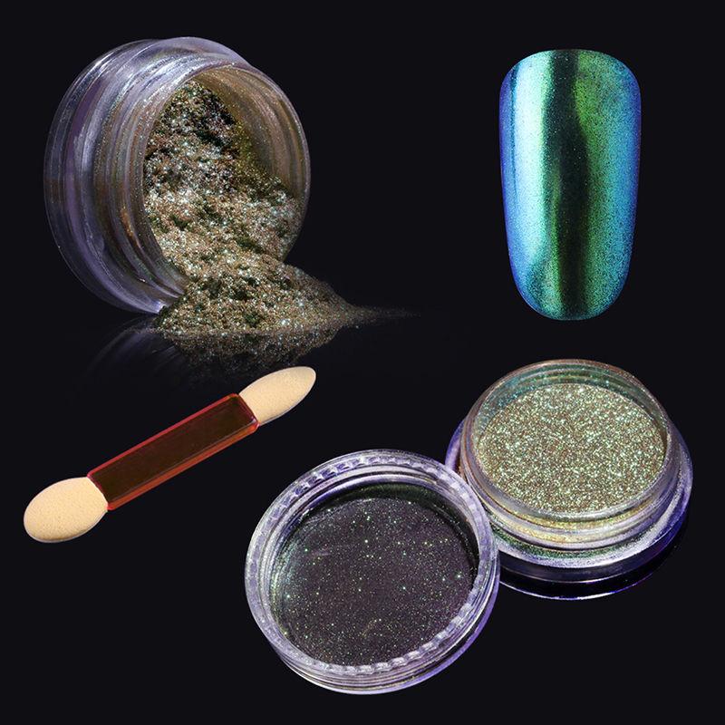 Elite99 Chrome Powder Mirror Holographic Gel Nail Polish