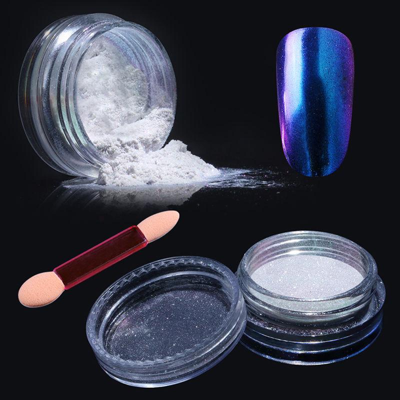 Chrome Nail Powder Gel: Elite99 Chrome Powder Mirror Holographic Gel Nail Polish